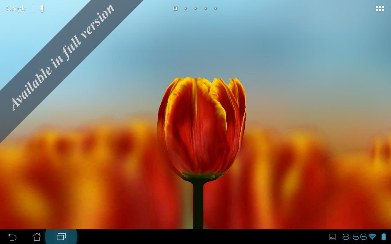 3D Tulip Live Wallpaper Free- screenshot