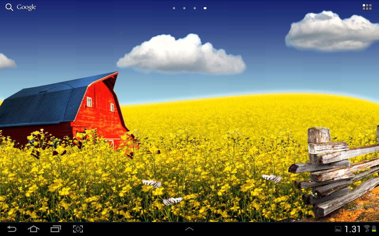 Countryside live wallpaper - screenshot