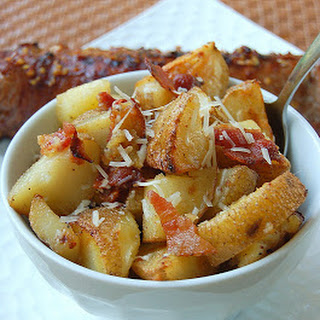 Roasted Potatoes with Bacon & Parmesan.