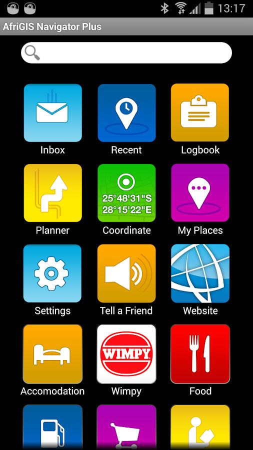 AfriGIS Navigator - screenshot
