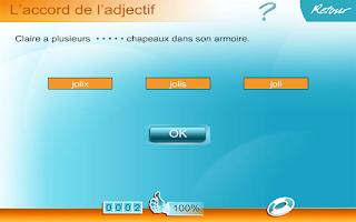 Screenshot of Orthographe CE1