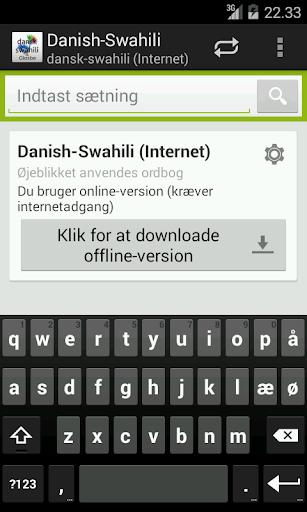 Dansk-Swahili Ordbog
