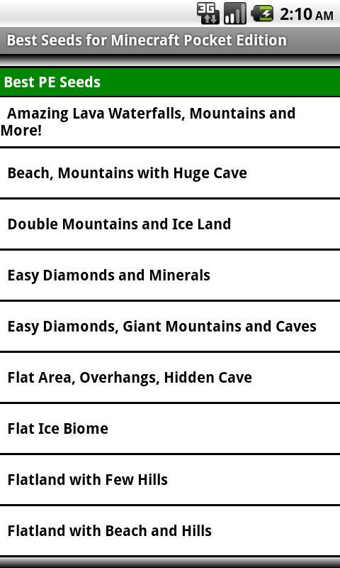 PS3 Minecraft Seeds List