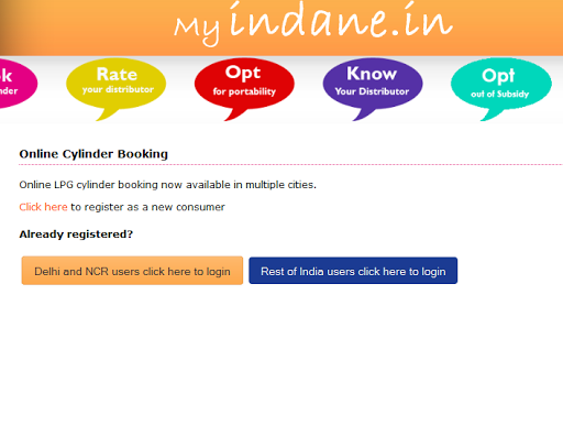 how to cancel indane gas refill booking