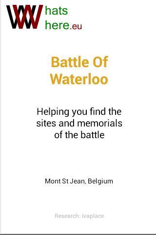 Battlefield of Waterloo Tour