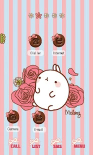 CUKI Theme Rose and Molang