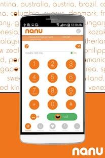 nanu - free calls for everyone - screenshot thumbnail