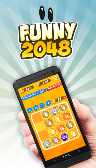 Funny 2048- screenshot