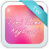 Pink Theme Keyboard Background