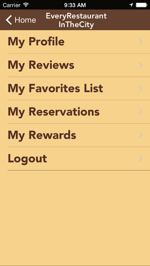 Restaurant Locator- screenshot