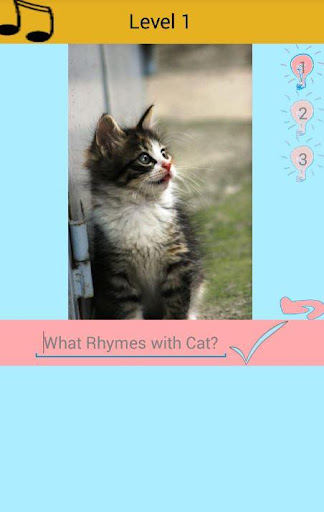 What word rhymes with Cat quiz