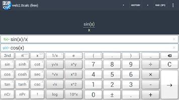 Screenshot of web2.0calc (free)