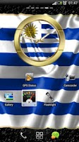 Screenshot of Uruguay flag clocks