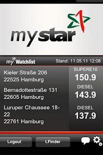 mystar ToGo Kraftstoffpreise - screenshot thumbnail