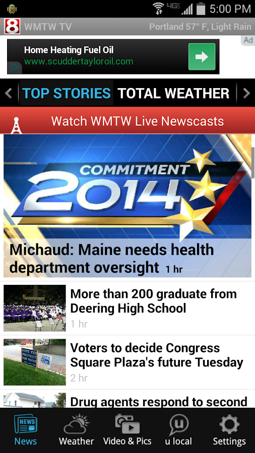 WMTW News 8 and Weather- screenshot