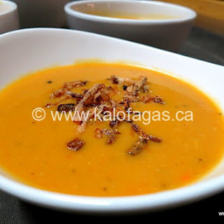 PuréE of Red Lentil Soup with Crispy Onions Recipe