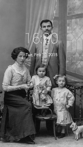 Vintage Family Pic Lock Screen