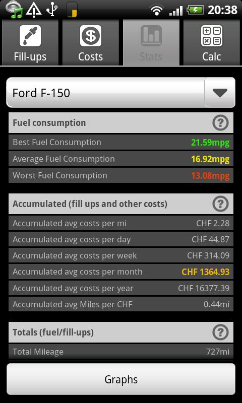 FuelLog - Car Management - screenshot