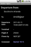 Screenshot of Sweden Flights