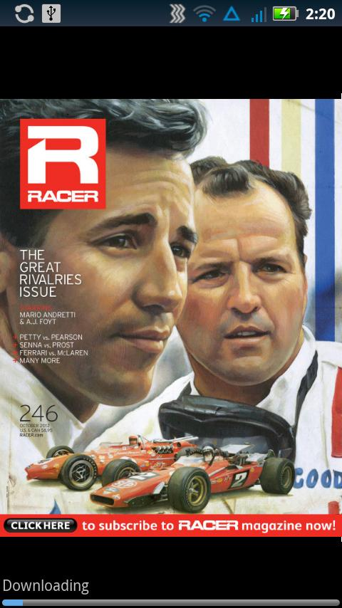 RACER Magazine - screenshot