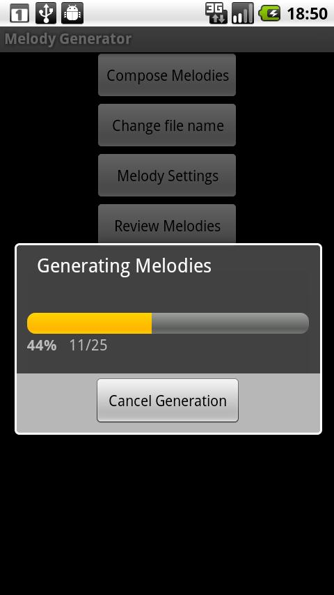 Melody Generator - screenshot