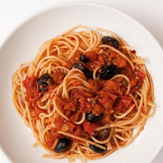 Nigel Slater's classic spaghetti alla puttanesca.