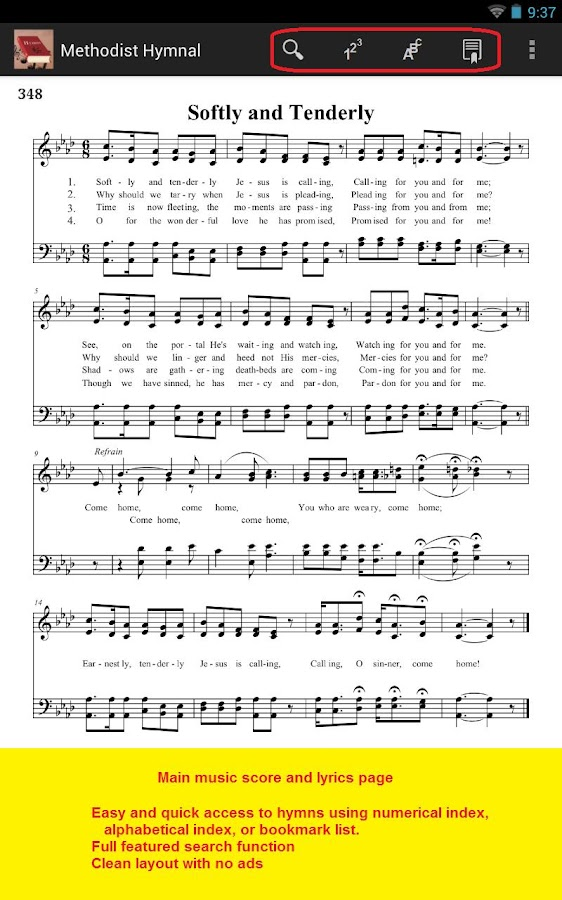 Methodist Hymnal - screenshot