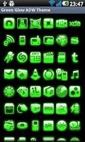 Screenshot of ADW Theme Green Glow Pro