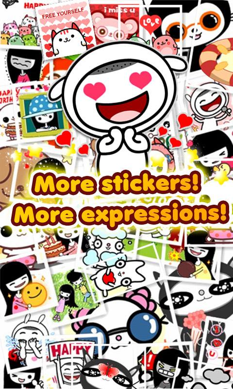 My Chat Sticker 2 for C free - screenshot