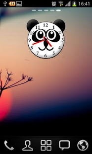 Panda Analog Clock Widget - screenshot thumbnail