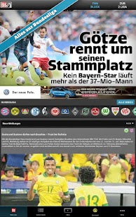 BUNDESLIGA bei BILD - screenshot thumbnail