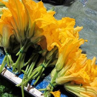 Tagliatelle with Zucchini Flower Pistou