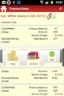 pesaDroid Free MPESA Statement - screenshot thumbnail