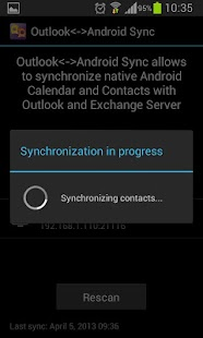 Outlook<->Android Sync - screenshot thumbnail