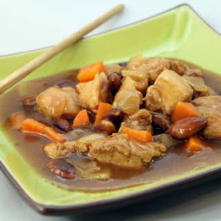 Chinese-style Almond Chicken.