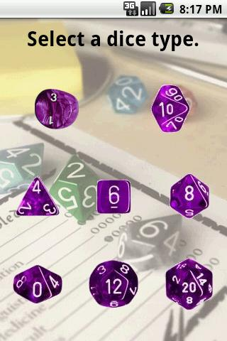 Dice Roller for RPG - screenshot