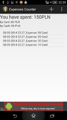 Expenses Counter