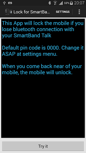 Lock for SmartBand Talk SWR30