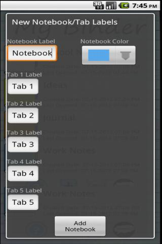 My Binder: Tabbed Notes- screenshot