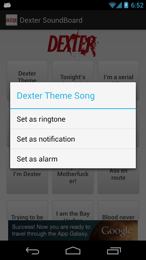 Dexter Soundboard - screenshot