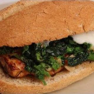 Broccoli Rabe and Chicken Sandwich.