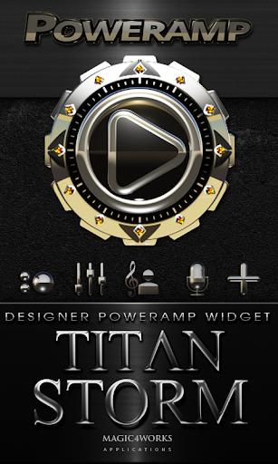Poweramp Widget Titan Storm