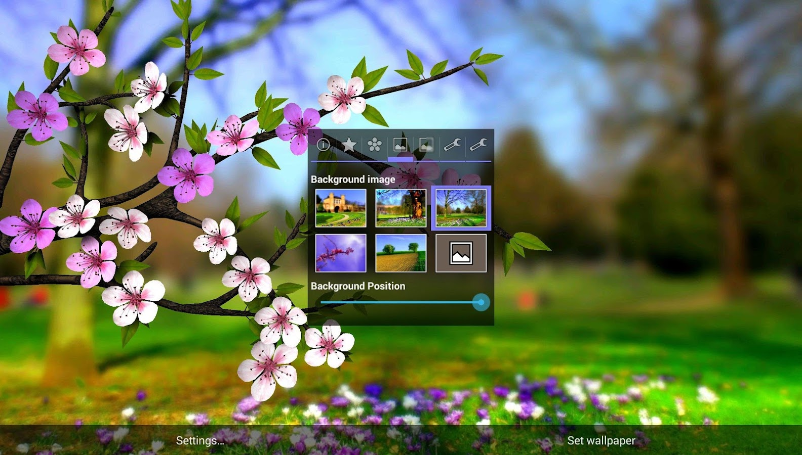 Spring flowers 3d parallax pro android apps on google play spring flowers 3d parallax pro screenshot dhlflorist Images