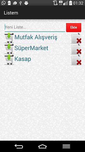 Alışveriş Listesi - Listem