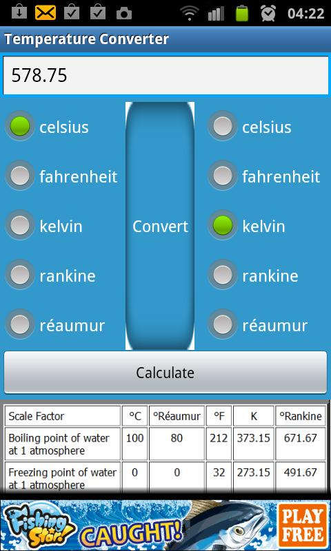Temperature converter android apps on google play for 0 kelvin to celsius conversion table
