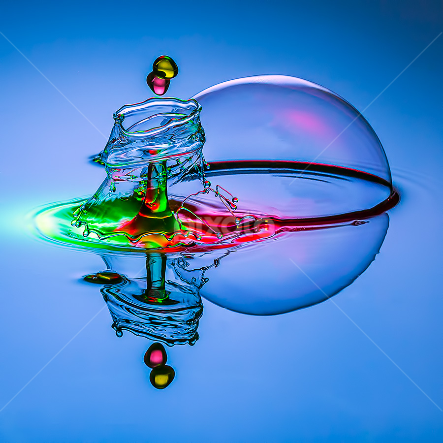 Me and My Bubble by Ganjar Rahayu - Abstract Water Drops & Splashes ( waterdrop )