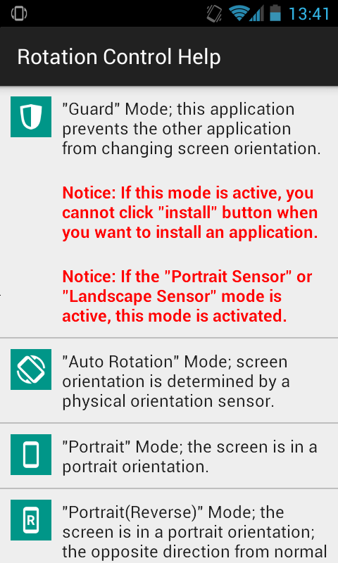 Rotation Control- screenshot