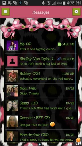 GO SMS THEME - SCS324