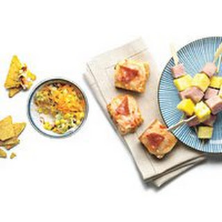 Ham-and-Pineapple Bites with Brown Sugar-Mustard Sauce