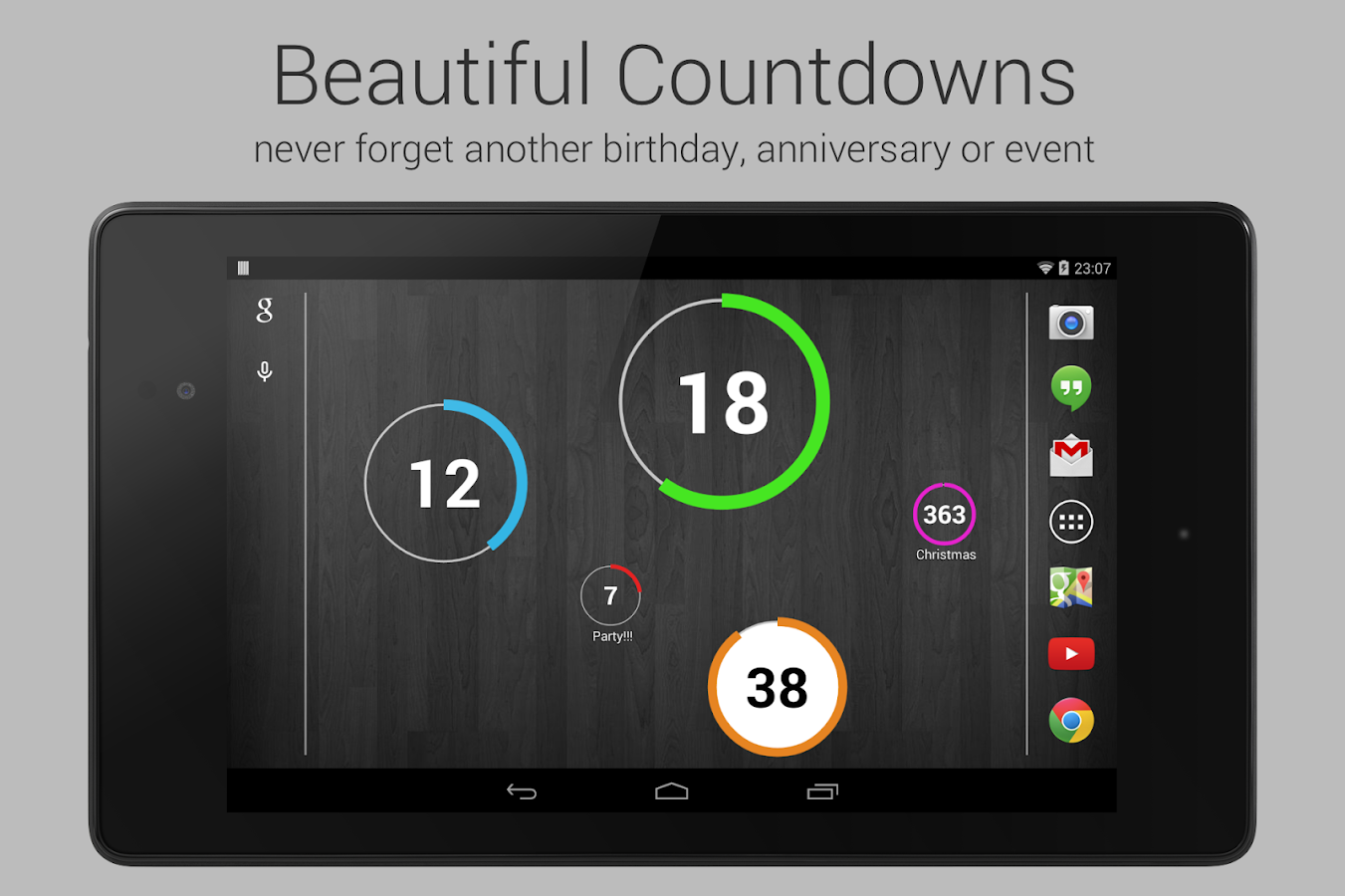 Countdown Widget for Events- screenshot